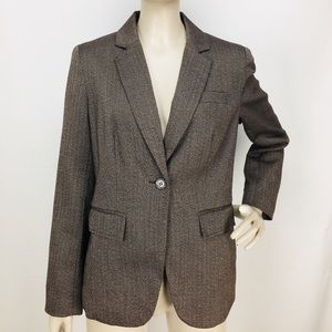 Worthington Brown Herringbone Career Blazer